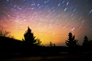 Star Trails 1 by Nebey