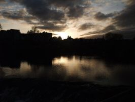 Sunset Over the river Nith by 2DRScott