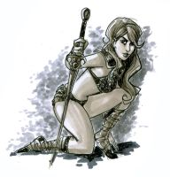 The Pose of the Warrior Queen by BigChrisGallery
