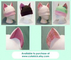 Plaid Cat Hat by cutekick