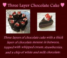 Three Layer Chocolate Cake by me0w-kittyy