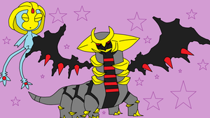 Giratina and Uxie YouTube Channel Art by UmbreonDelilah