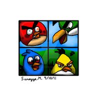 Angry Birds in the window by TierraVerde