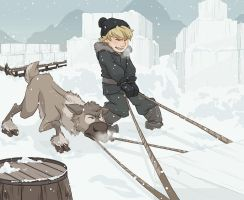 Teamwork - Kristoff and Sven by NightLiight