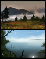 Environmental speedpaint bits by KathyKnodoff