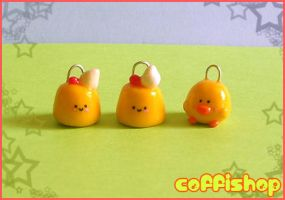 Cute creme caramels + piyo by coffishop