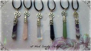 HANDMADE - Wicca Magic Stones Amulet by IWantCandyCreation