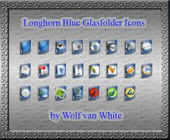Longhorn Blue Glasfolder Icons by WolfvanWhite