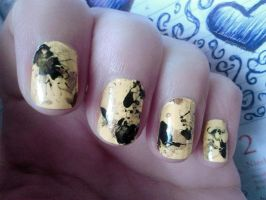 31 Week Nail art challenge: Week 3 Yellow Nails by LittleAndzia