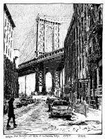 Washington street - view to the Manhattan bridge by RoodyN
