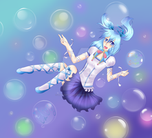 Floating with Bubbles by ItachiXShana