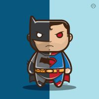Batman V Superman Vector by funky23