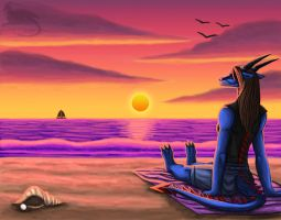 Tranquil sea by Ravenfire5