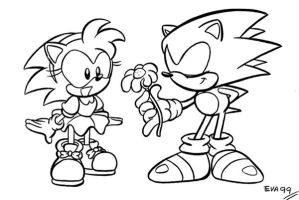 Sonic and Amy by TheEvaFAN