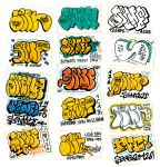 Throw ups and stickers by Senf42