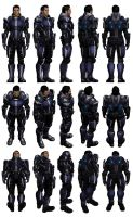 Mass Effect 3, Kaidan Armour. by Troodon80