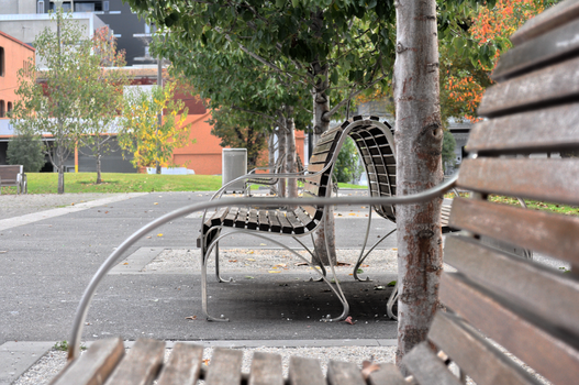 A bench in the park HDR by Inkovic