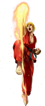 Ken Masters - Project X Zone by Zeref-ftx