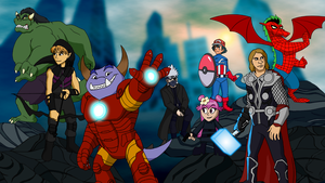 Commission - Fantasy Avengers by BennytheBeast