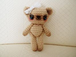 sweet posable ami bear by hellohappycrafts