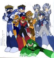 Megaman 3 Robot Masters CGed by crusaderesper