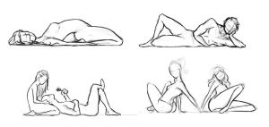 Old pose sketches you may use by OneFreeInternet