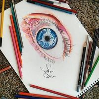 Realistic Eye by Sinclairart1
