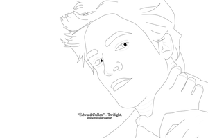 'Edward Cullen' Lineart. by craftyaegis