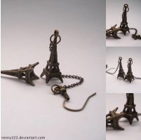 Earrings-Tour Eiffel by Renny222