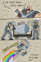 'We Must Push Little Cart' by xychojack