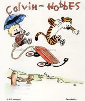 Calvin and Hobbes by laurabeth