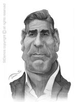 George Clooney Caricature Sketch by StDamos