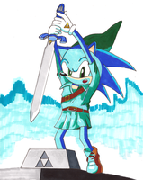 Sonic take the Master Sword! by Yazoo11