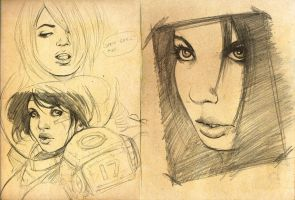 wondercon sketches by punchyninja