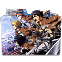 Shingeki No Kyojin - Icon Folder by ubagutobr