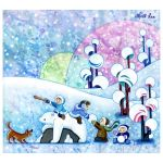 boys playing snow fight by snuapril01