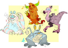 Critters Auction 1 CLOSED by Unstadoptables