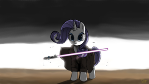 Rarity with Lightsaber by Flexomatic