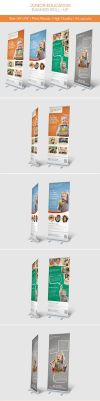 Junior Education Banner Roll-up by hoanggiang12