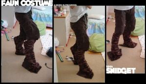 WIP: COSTUME: Faun legs. by snidget