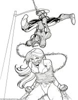 Spiderman vs She Hulk -Commission- by Dark-Ozuka