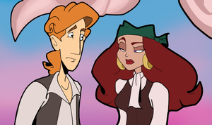 CMI Guybrush and Elaine by MissMariette