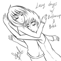 LazySketch!Greens: Lazy Days with Butchercup by kuraikitsune13