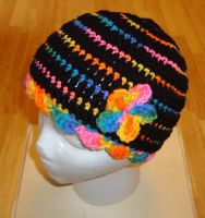Neon Rainbow Hat by Crochet-by-Clarissa
