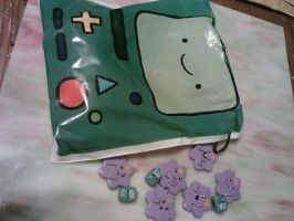 Beemo and LSP birthday charms by ShadyDarkGirl