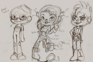3 more Sugar Rush Fan Characters by pandikko