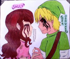 Sally X Ben Drowned (CreepyPasta) by clubpenguin1