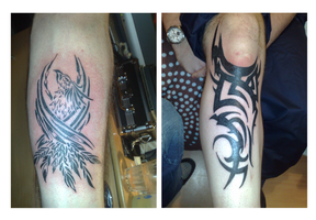 mixed tribal by sevenseastattoo