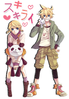 Render Like Dislike Kagamine Twins by HirasawaMio