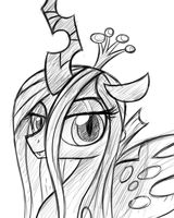 Our queen (sketch) by HeavyMetalBronyYeah